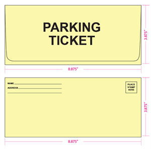 9 (3 7/8 x 8 7/8) Canary Prism Parking Ticket Envelopes - (qty of 1000)